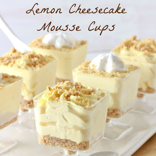 No-Bake Lemon Cheesecake Mousse Cups.