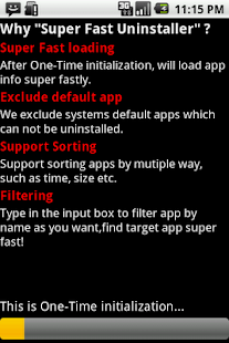 Super Fast Uninstaller - screenshot thumbnail