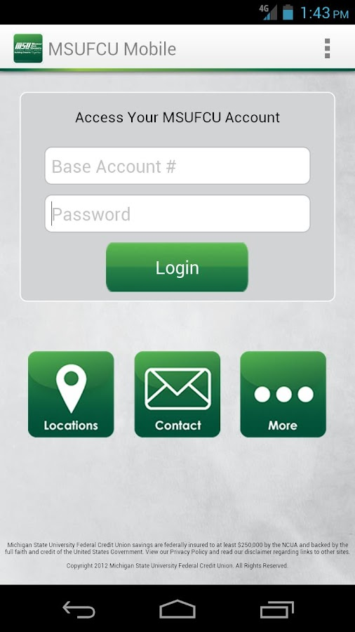MSUFCU Mobile - screenshot