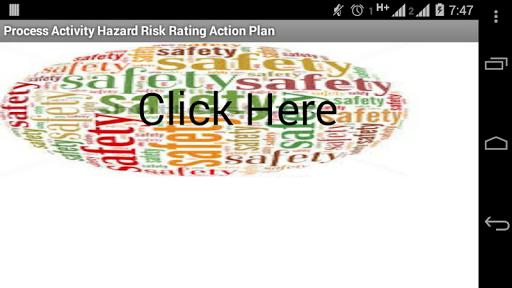 Hazard Risk Rating Action Plan