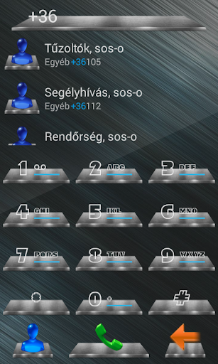 exDialer 3D Metal Theme