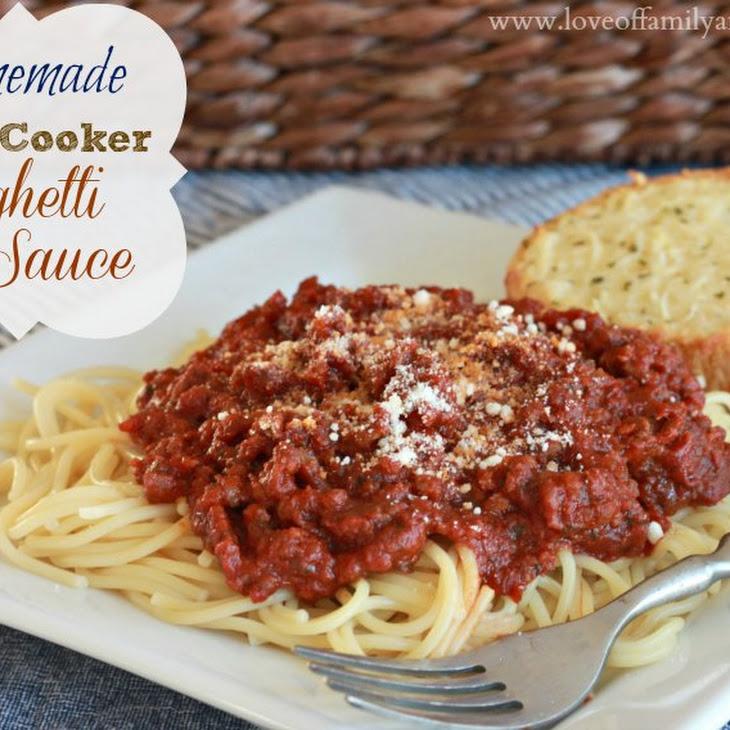 Homemade Slow-Cooker Spaghetti Sauce
