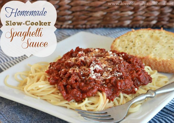 Homemade Slow-Cooker Spaghetti Sauce Recipe