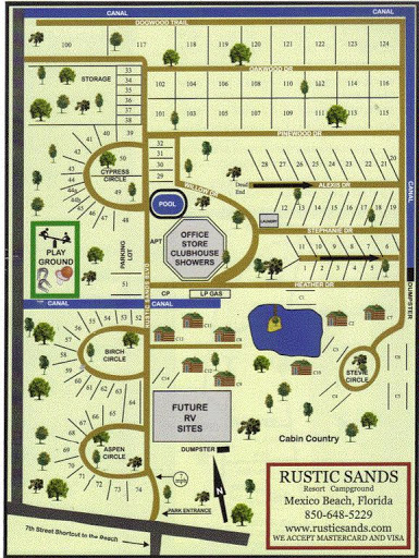 Rustic sands campground in mexico beach florida