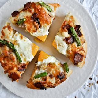 Bacon, Egg + Asparagus Personal Pizzas