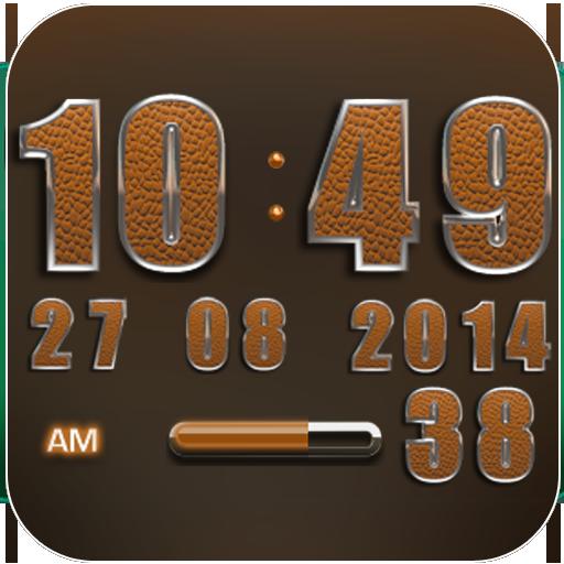 Clock Widget Orange Elephant