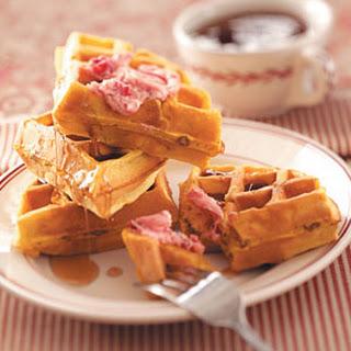 Toasty Pumpkin Waffles.