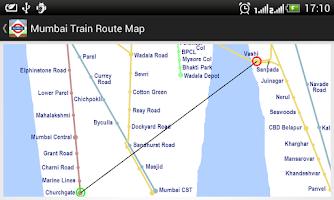 Screenshot of Mumbai Train Route Planner