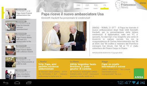 Papa Francesco News for Tablet