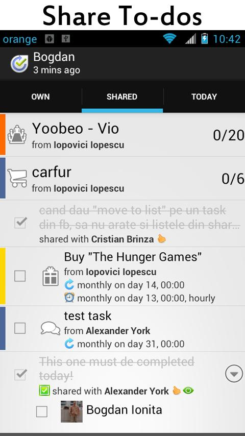 Yoobeo To do List & Task Share- screenshot