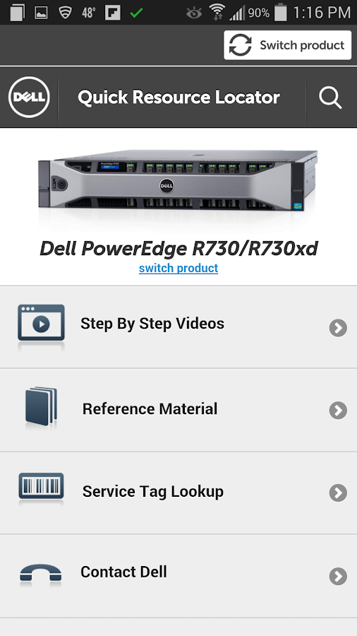Dell Quick Resource Locator- screenshot