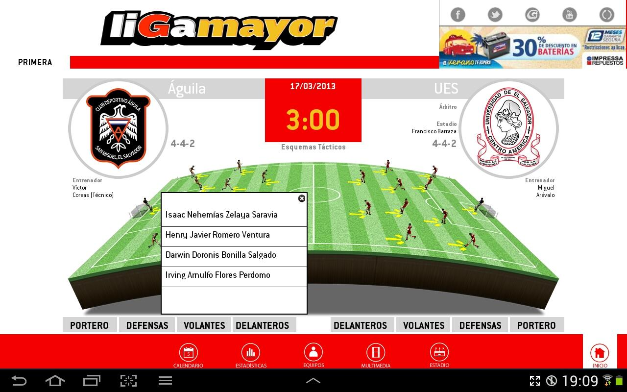 Liga Mayor - screenshot