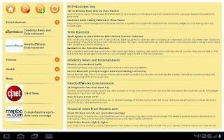 Screenshot of RSS Reader
