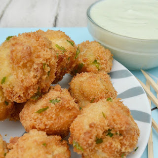 Crumbed Mushrooms with Blue Cheese Sauce Recipe