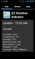 Screenshot of EZ Weather Indicator