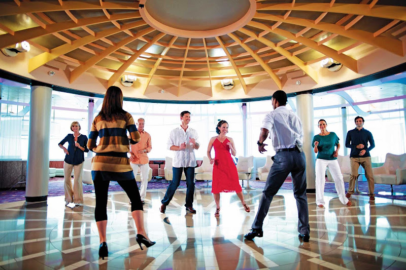 Let loose and try something new like a salsa dance class during your stay on Celebrity Silhouette. Bonus: You'll probably never see these folks again!