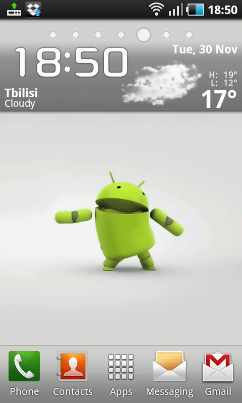 3D Dancing Android Boy LWP - screenshot