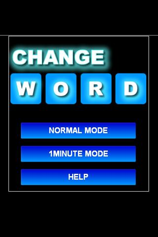 CHANGE WORD - screenshot