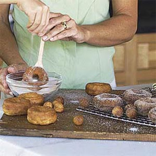 Quick Doughnuts and Doughnut Holes.