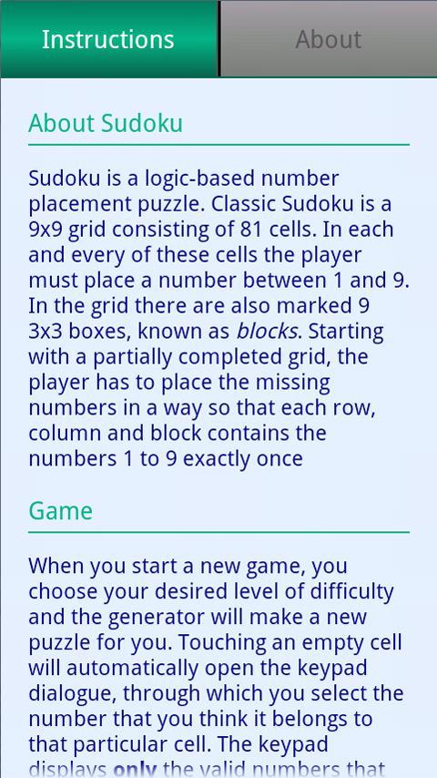 Elegant Sudoku Generator- screenshot