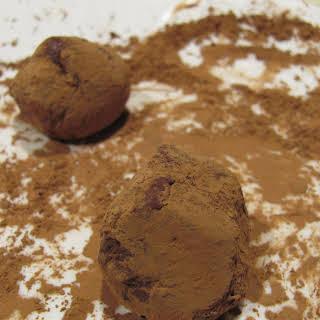 Fennel Pollen Salted Caramel Olive Oil Chocolate Truffles.