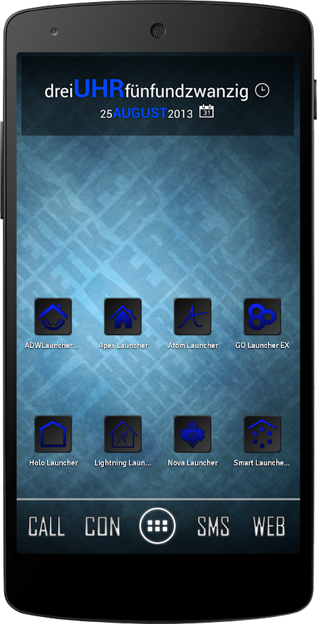 Apex/Nova Semiotik Blue Icons- screenshot