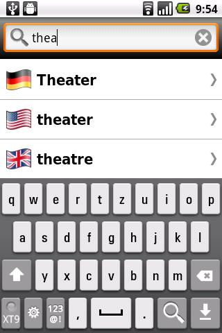 English and German Dictionary - screenshot