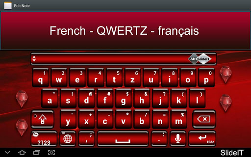 SlideIT French QWERTZ Pack