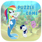 Pony Mermaid Puzzle Game