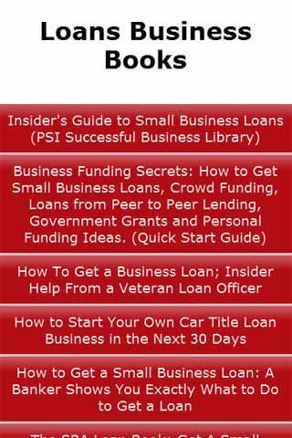 Loans Business Books