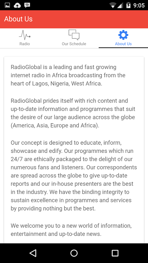 Radio Global- screenshot