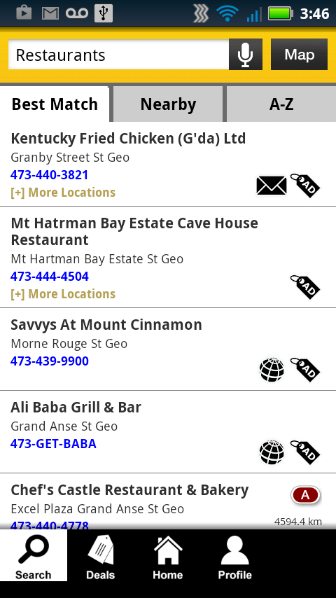 Grenada Yellow Pages - screenshot