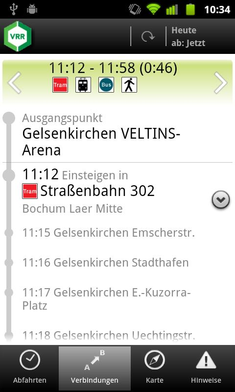 VRR App - screenshot