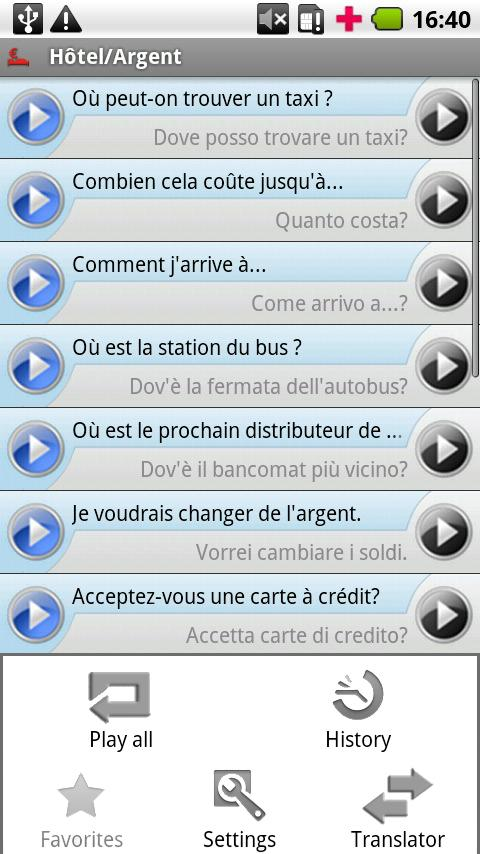 iSayHello French - Italian- screenshot