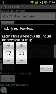 Offline Browser- screenshot thumbnail