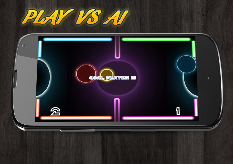 Glow Air Hockey Multiplayer- screenshot