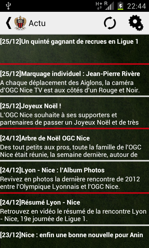 Nice Foot Actu (non officiel) - screenshot
