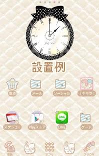 無料个人化Appのドットリボン目覚まし時計ウィジェット【FREE】|記事Game