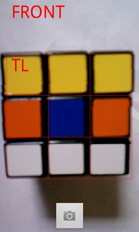 Rubik's Cube Solver - screenshot