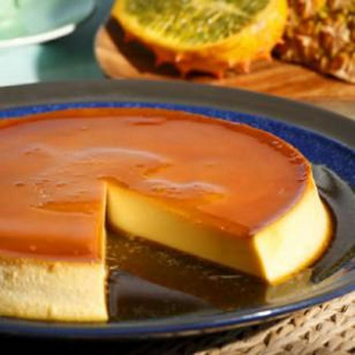 Caramel Cream Cheese Custard (Flan De Queso) Recipe