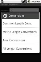 Screenshot of Volume Conversion