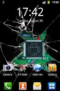 Broken glass lite wallpaper- screenshot thumbnail