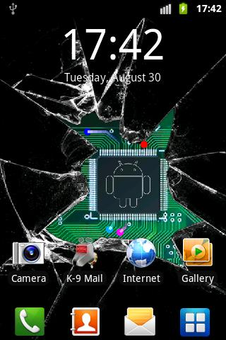 Broken glass lite wallpaper - screenshot
