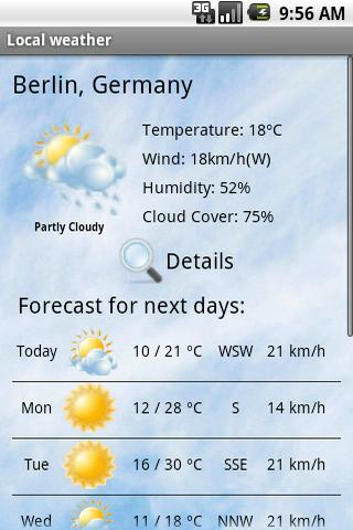 Local weather - screenshot
