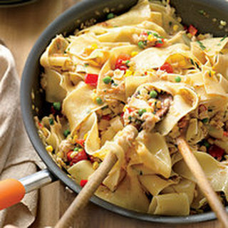 Crab-and-Corn Ribbon Pasta.
