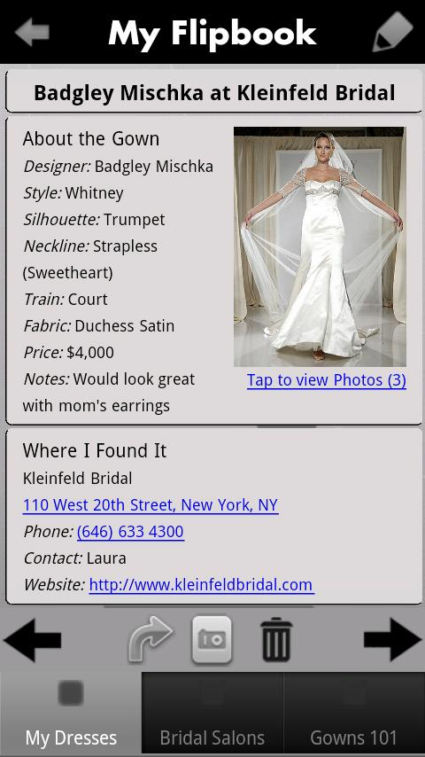 iBridalGown Shopping Assistant - screenshot
