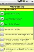 Screenshot of Avilution Checklists