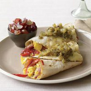 Sausage-and-Pepper Burritos with Grape Relish