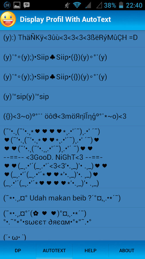 DP Autotext Lucu - screenshot
