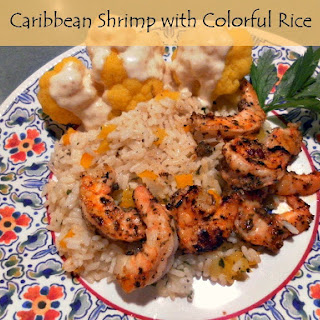 Caribbean Shrimp with Colorful Rice